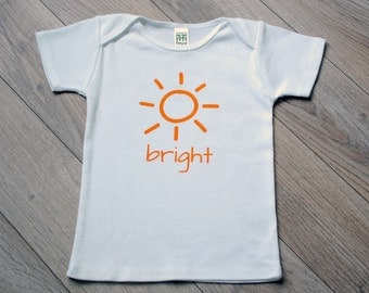 Gender Neutral Modern Organic Infant & Toddler T-shirt - Bright - Printed with Water Based Ink