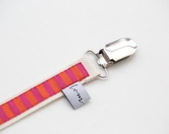 Pacifier stripes pink/orange
