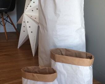 "Set of 3 sizes: S, M and L - kraft paper bag ""paperbag"" ""storage"