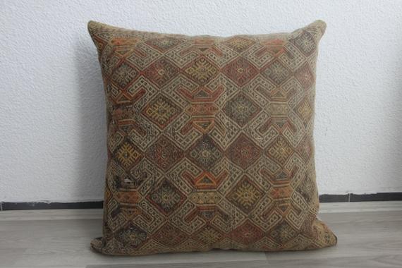 Should I Throw Away Old Pillows : oversize kilim pillow throw pillow 28x28 big cushion cover