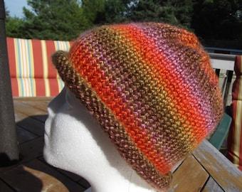 Multi-Colo red Roll Brim Hat