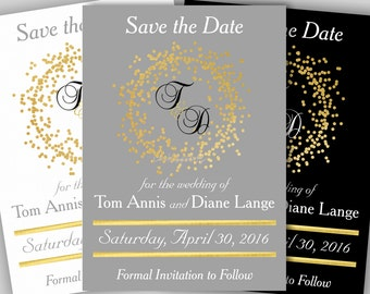 Save the Date Announcement Save the Date Card Gold Save the Date Printable Save the Date Elegant Save the Date Wedding Announcement SD01
