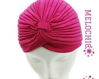 Hotpink Turban Hat, Chemo Hat, Hair Loss Hat, Head Wrap, Women Turban Hat, Fashion Turban Hat, angelofzionTurban Hats, Turban, Hats