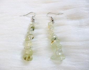 Crystal Earrings - Boho Earrings - Green Crysyal