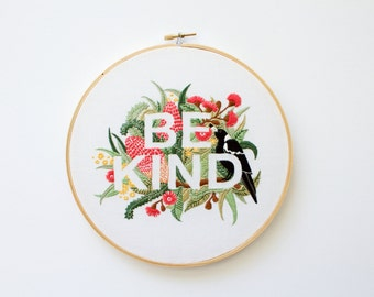 PDF Digital Download - Artist Series - Be Kind Embroidery Pattern - Thread Folk and Lauren Merrick
