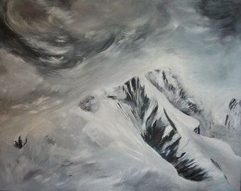 snow and clouds 2 - 120X80cm - acrylic on canvas