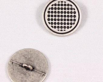 2 buttons 18mm, metal, silver, to stem (3752)