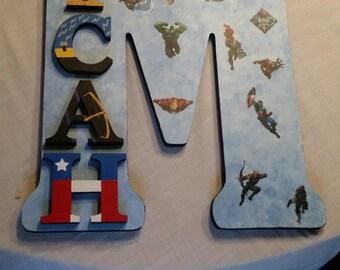18 inch letter Avengers kids room custom sign