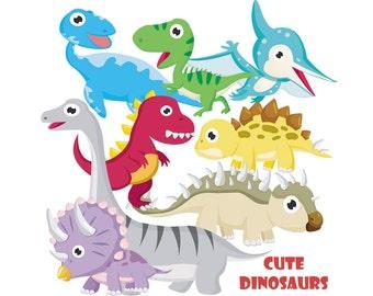 Cute Dinosaurs Clipart