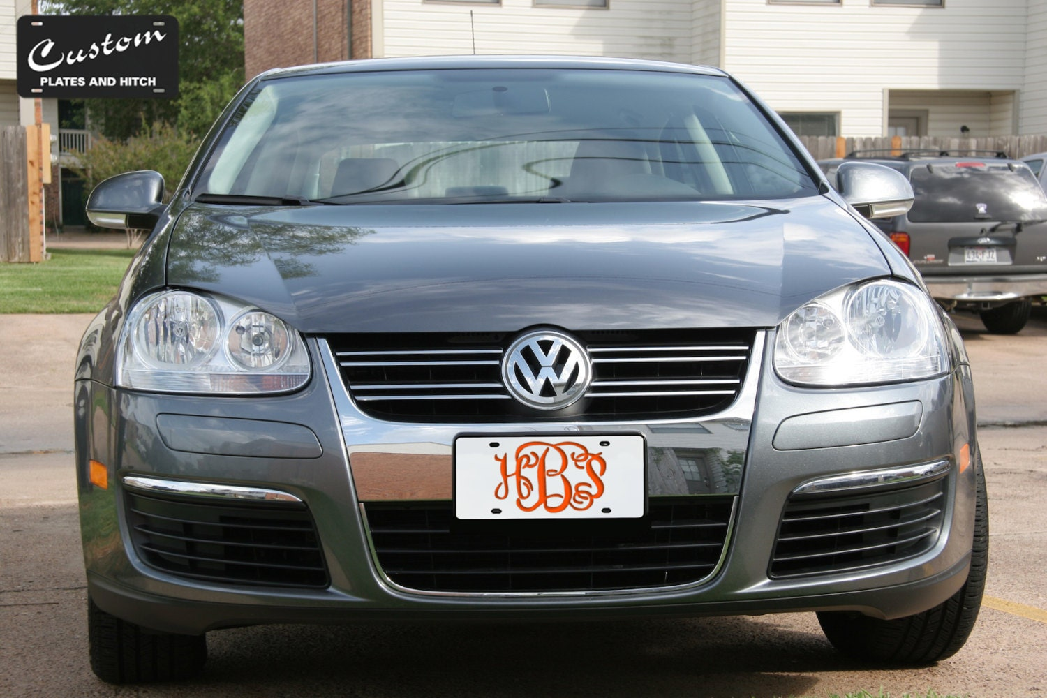 Personalized Monogram Laser Cut Stainless Steel License Plate