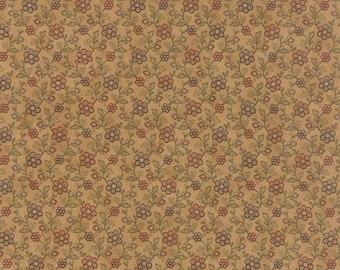 Hawthorne Ridge - Per Yd - MODA - Jan Patek- Tan/Sm Flower