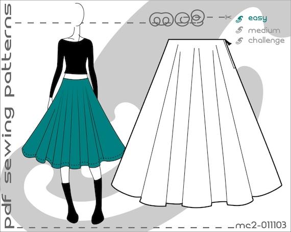 Circle Skirt Sewing 2