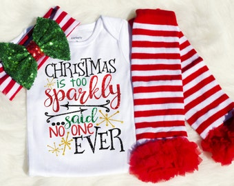 My First Christmas Outfit for Girls| Baby Girl Christmas Outfit| Baby Christmas Outfit| Sparkle