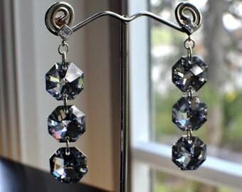 Swarovski Octagon Earrings