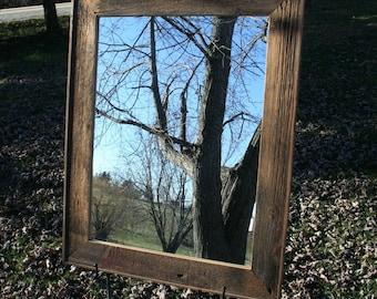 "Barn Wood Mirror 18"" x 24"""