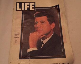 Vintage Life magazine - JFK issue