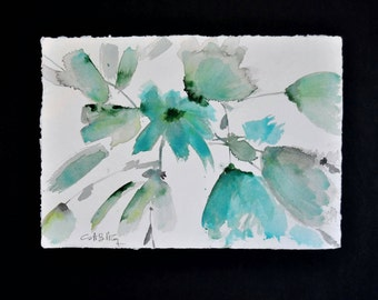 Turquoise watercolor