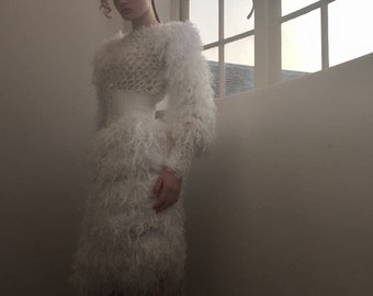 White Couture Crochet Dress