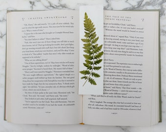 Real pressed fern bookmark