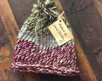 Hand Knitted Striped Hat