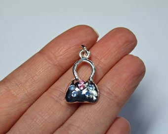 Handbag charm, purse charm, pocketbook charm, silver plated