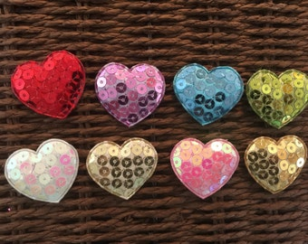 Heart Sparkly Appliques