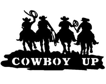 Yee Haw! - Vinyl Decal Wall Art - Cowboy Up