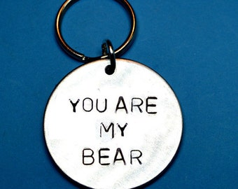 You are my bear, Valentines gift, Boyfriend gift, Girlfriend keyring, UK, Boyfriend keyring, Husband keyring, Wife keyring, Personalised