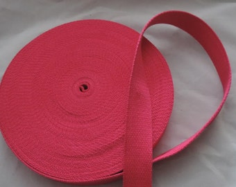 Package 5 m 100% cotton webbing 30 mm Made in Europe / Colors to choose