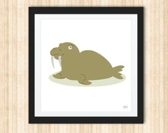 Walrus Print - Wall Decor - Nursery - Child Room