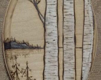 Woodburn Birch Trees Plaque