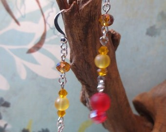 Automn color necklace and earrings