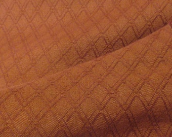 Burgundy Brown Criss Cross 100% Linen Upholstery Fabric. By Swaffer Furnishings. Price Per Metre.