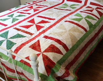 Christmas Queen Pinwheel Batik Quilt