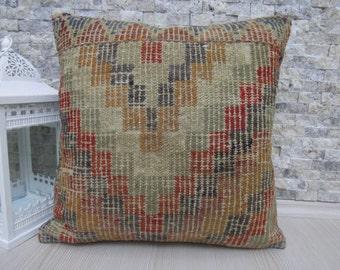Fantastic Kilim Pillow Turkish Pillow 18 x 18 Lumbar Turkish Bolster Handmade Kilim Pillow Bohemian Pillow