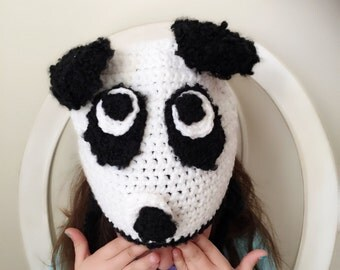 Black and white bear hat