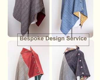 Perfect gift, bespoke women's poncho, made to your order.