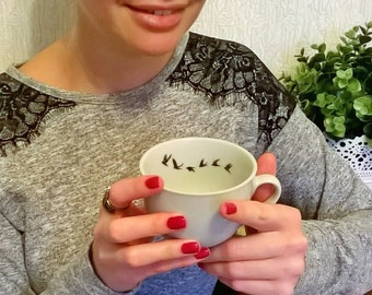 Set of 4 Swallow Tea / coffee / cappuccino cups FREE SHIPPING uk and usa