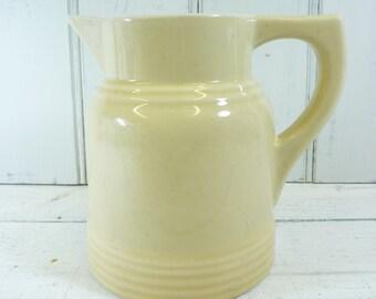 Antique French farmhouse large milk jug.