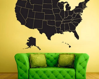 World map stencil etsy usa map wall art usa map wall decal usa map wall stencil world map wall sticker gumiabroncs Image collections