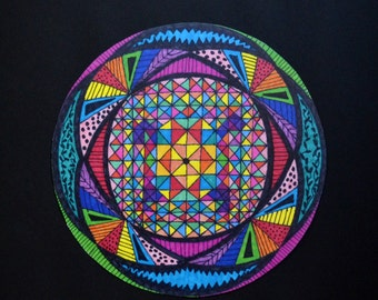Mandala Art Print; Stained Glass Window