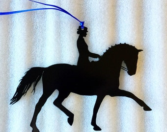 Set of 12 Dressage Extended Trot Ornaments.