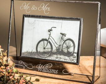 J.Devlin Pic 319-57 5X7 Horizontal OR Vertical Personalized Glass Photo Frame- Wedding EP-503