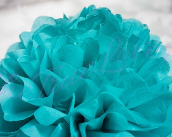 CARRIBEAN BLUE/ 1 tissue paper Pompoms,single pompom,nursery room decoration,baby shower,wedding,birthday,party,engagement,bridal shower,DIY