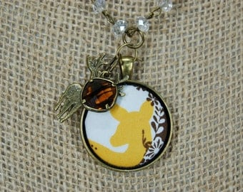 SALE! Forest Fawn Necklace