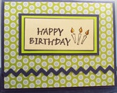 Birthday Card, handmade card, Happy Birthday, unisex card, MADE TO ORDER