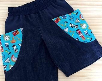 Boys Denim Bucket Pocket Shorts