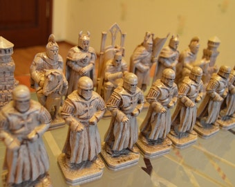 "Chess set ""Ledovoe poboishche"" (""Battle on the Ice"")"