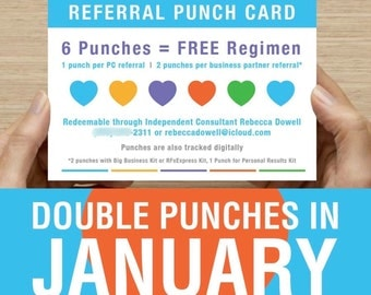 INSTANT DOWNLOAD Rodan and Fields Referral Punch Card