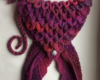 Crocheted mermaid tail tote bag
